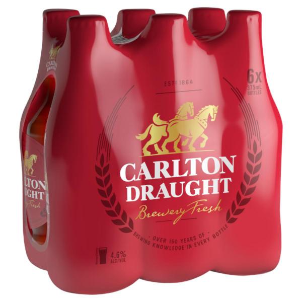 Carlton Draught Bottle 6Pack